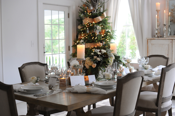 be sure to take a peak at the december issue of southern living to see more of our design concepts for a christmas dinner spread