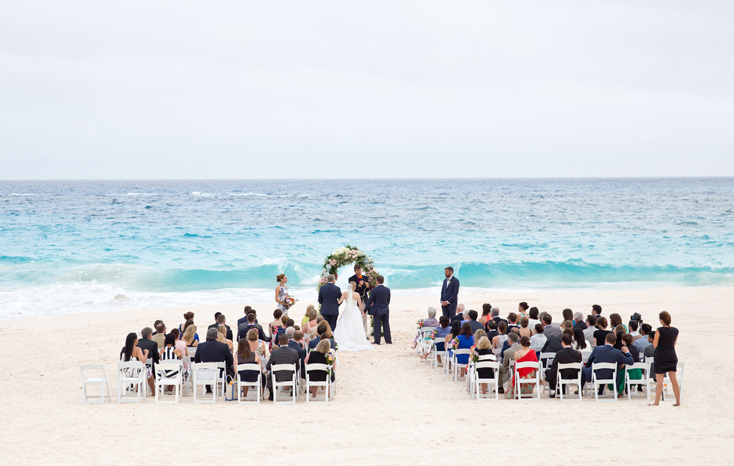 Bermuda Bliss Elegant Beach Wedding With Delesie